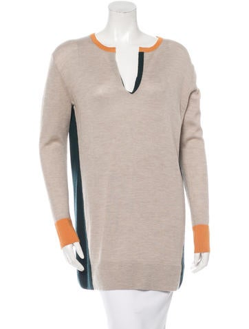 The Row Colorblock Long Sleeve Sweater None