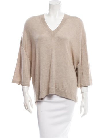The Row Oversize Knit Top None