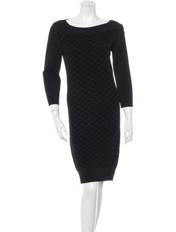 The Row Jacquard Knit Dress None
