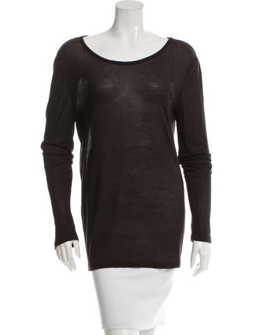 The Row Jersey Scoop Neck T-Shirt None