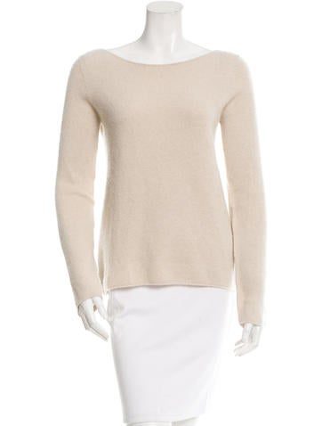 The Row Long-Sleeve Open-Knit Sweater None