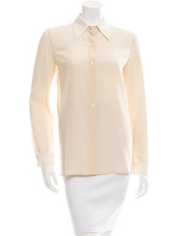 The Row Silk Button-Up Top w/ Tags None