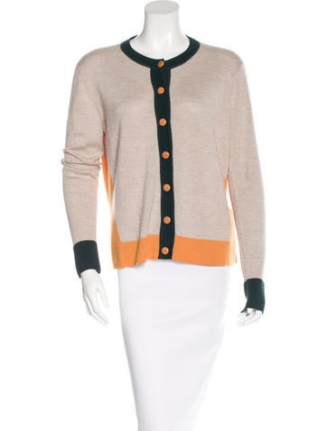 The Row Colorblock Button-Up Cardigan None