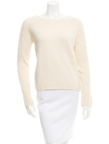 The Row Cable Knit Cropped Sweater None