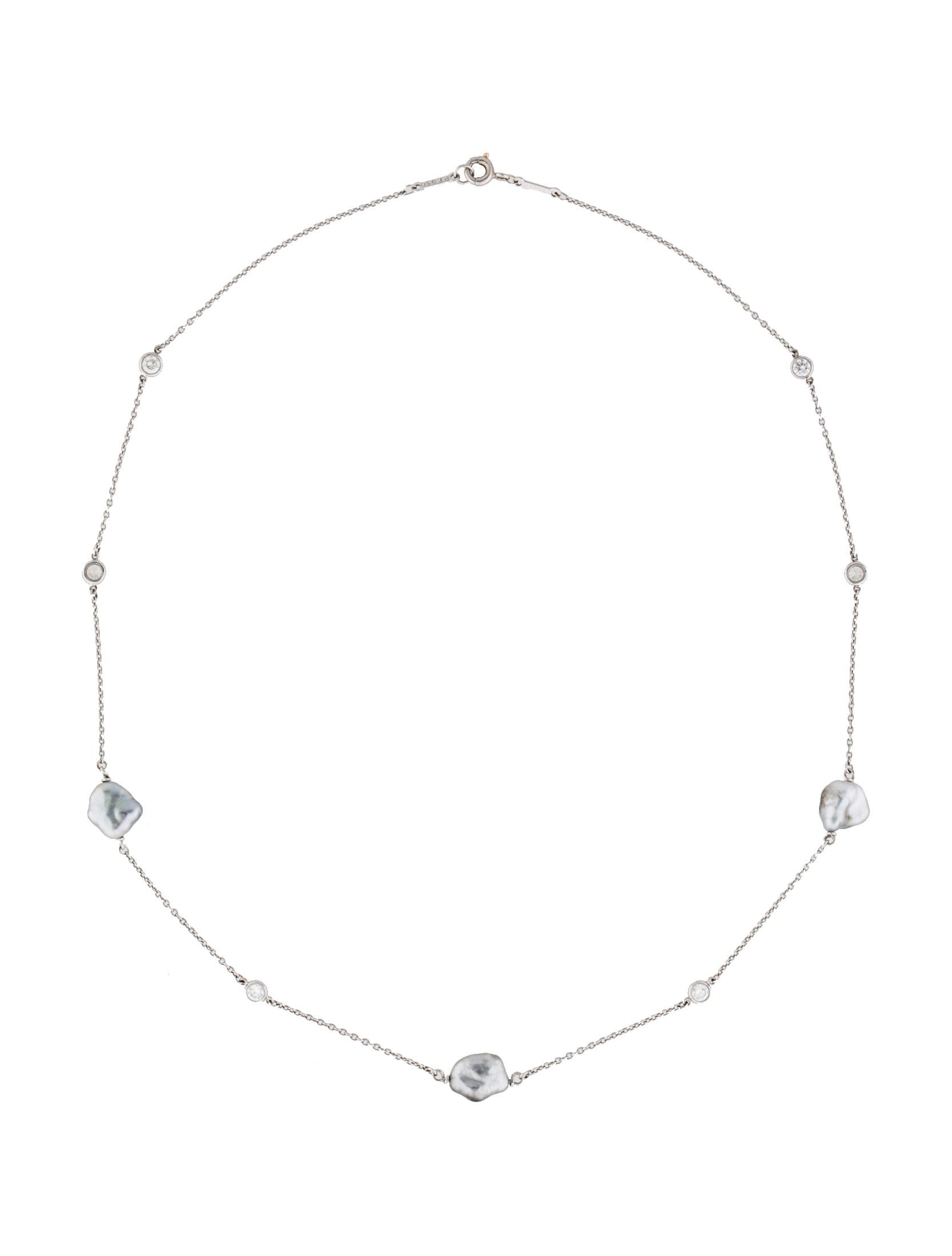 Tiffany co diamonds by the yard sprinkle necklace for Diamonds by the yard ring