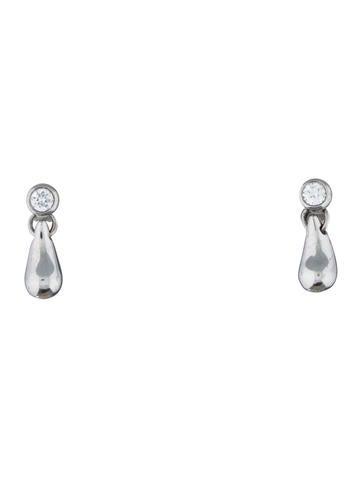 Tiffany Amp Co Diamond Tear Drop Earrings Jewelry