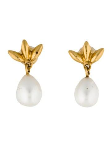 Tiffany & Co. 18K Pearl Drop Earrings