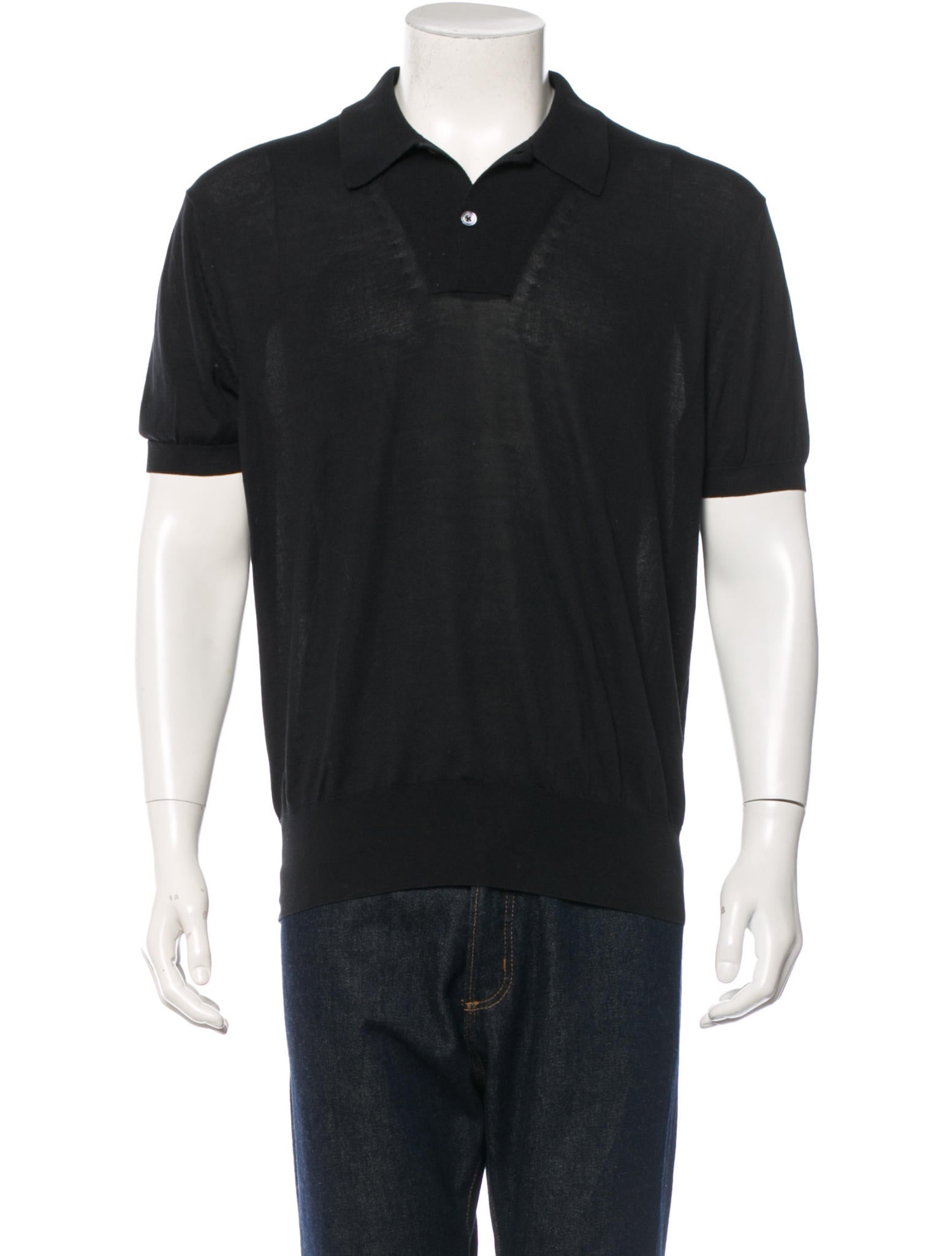 Tom Ford Silk Blend Polo Shirt Clothing Tom24291 The