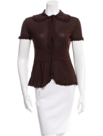 Tuleh Cashmere Button-Up Top None