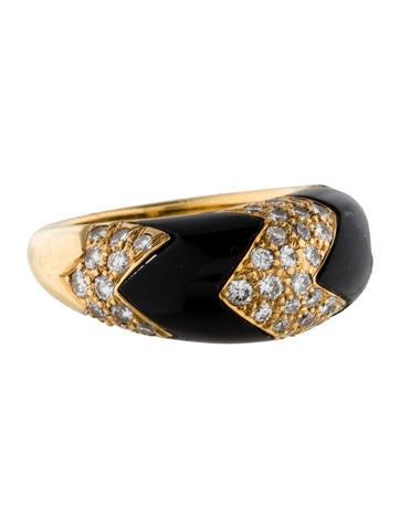 Van Cleef & Arpels Onyx and Diamond Ring