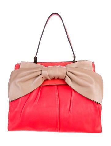 Valentino Aphrodite Bow Top Handle Bag