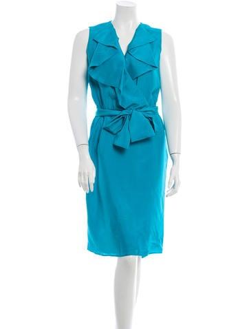Valentino Silk Ruffle Dress