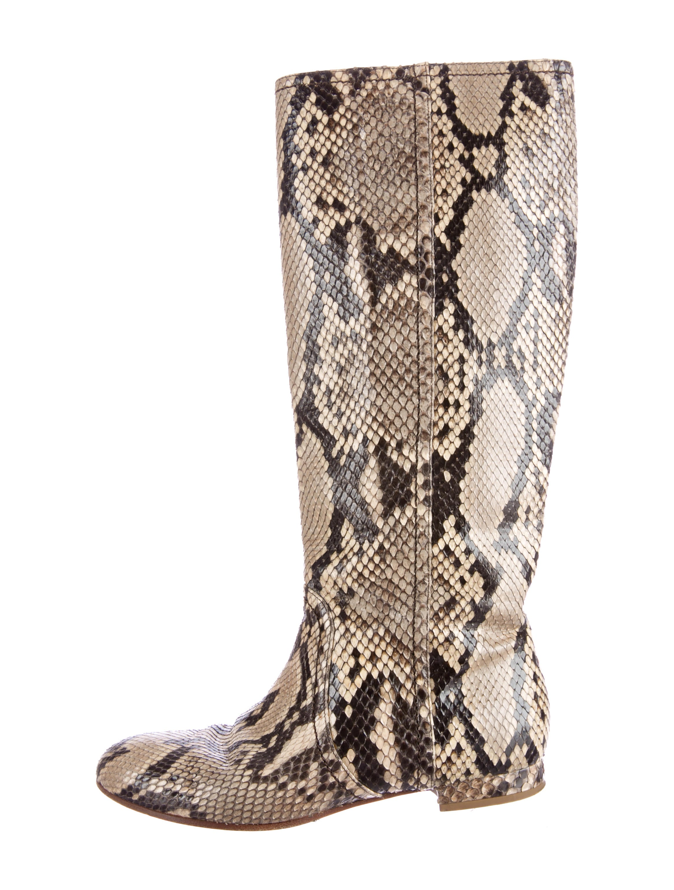 valentino snakeskin boots shoes val30261 the realreal