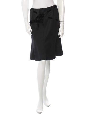 Valentino Wool Skirt None