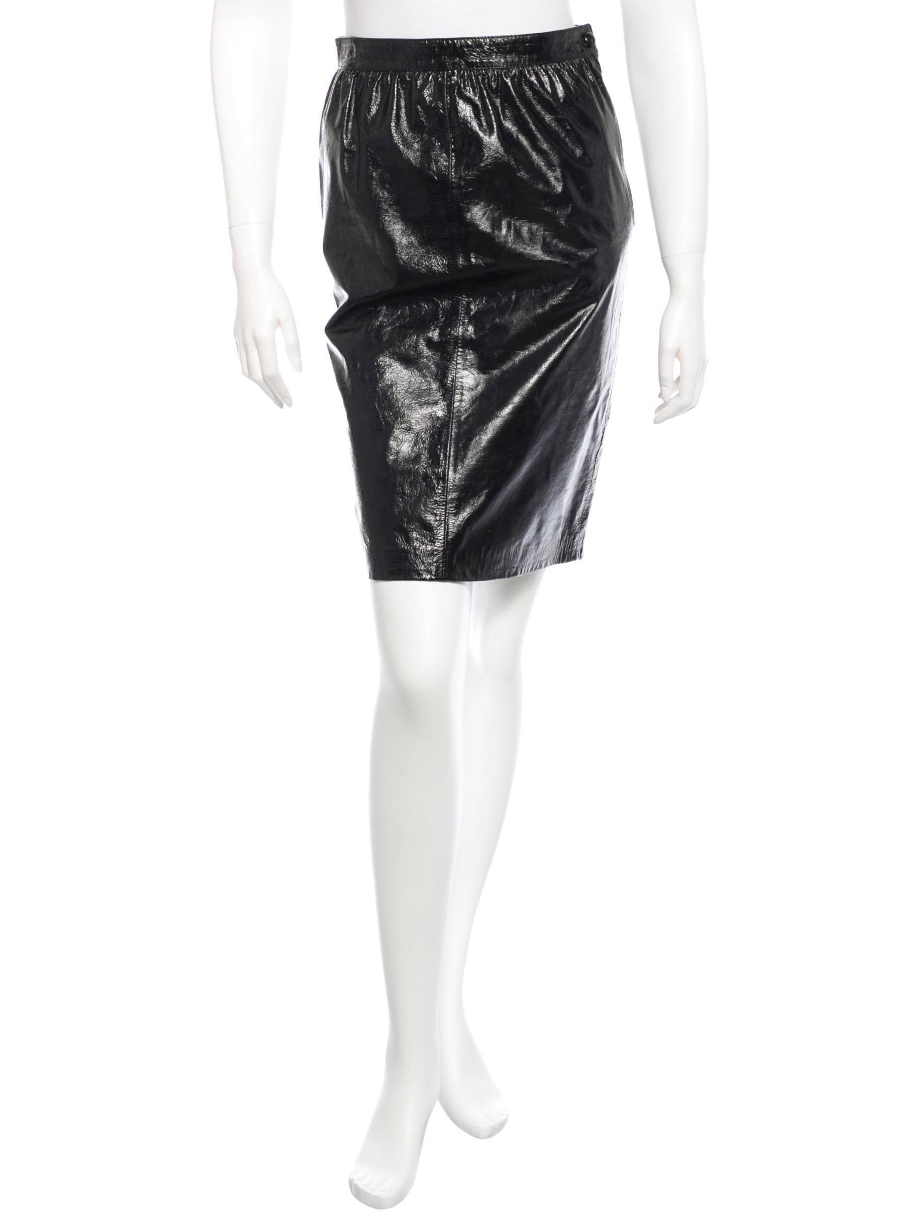 valentino patent leather skirt clothing val34960 the