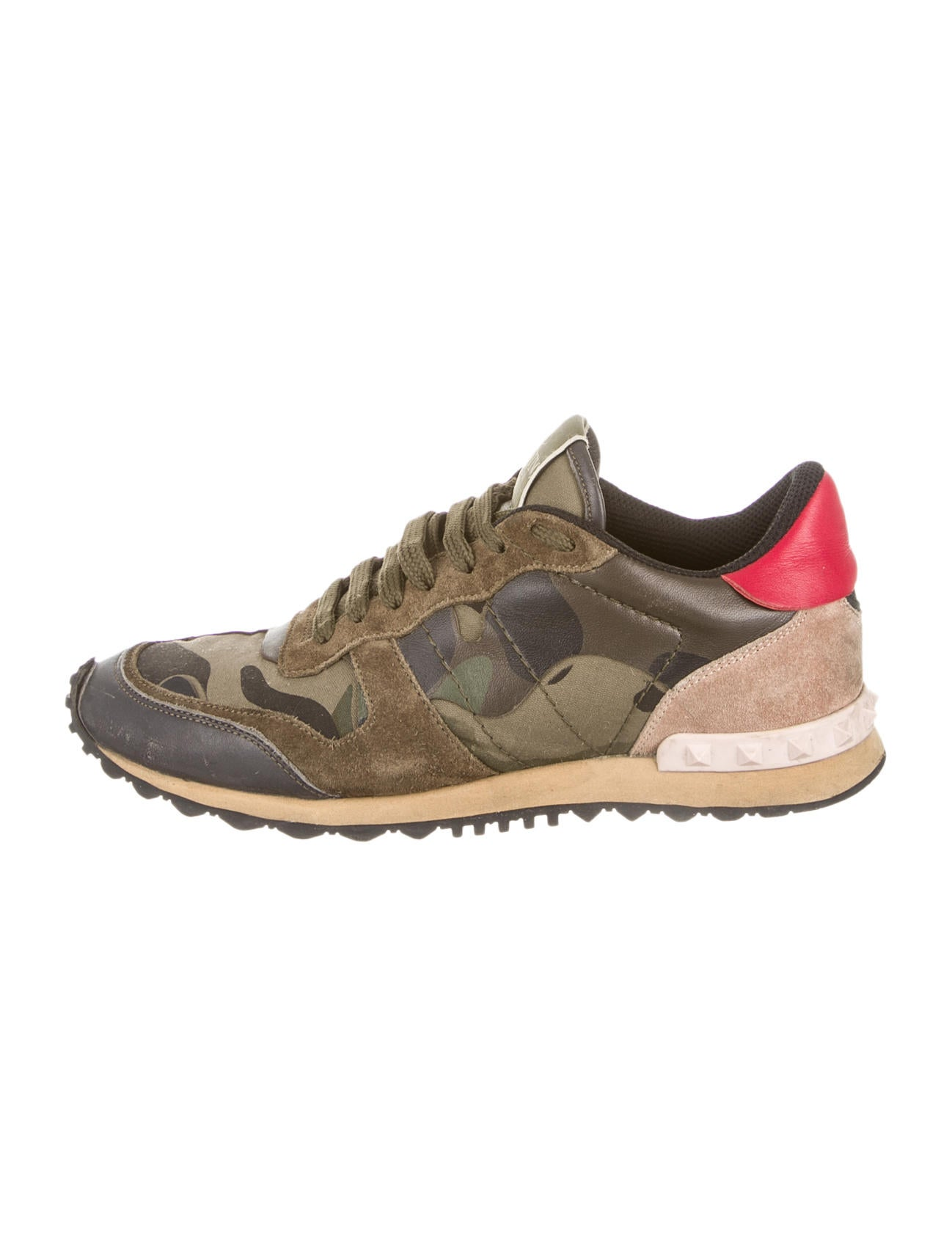 valentino rockrunner camouflage sneakers shoes val35956 the realreal. Black Bedroom Furniture Sets. Home Design Ideas