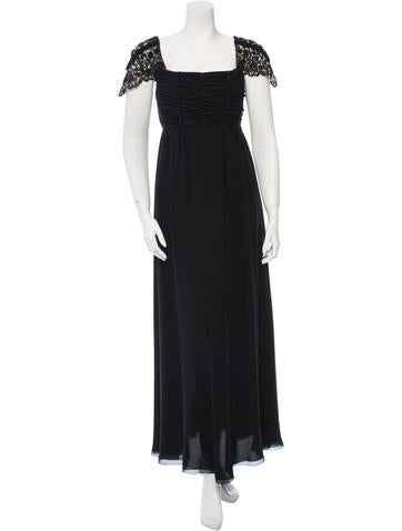 Valentino Silk Embellished Gown None