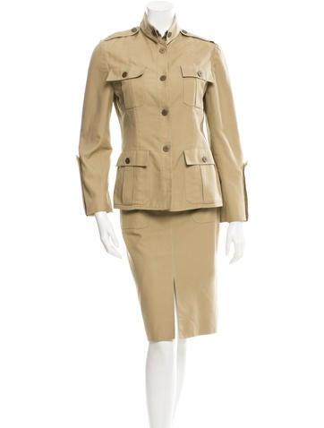 Valentino Long Sleeve Skirt Suit
