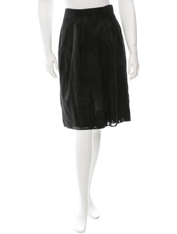 Valentino Embroidered Knee-Length Skirt None