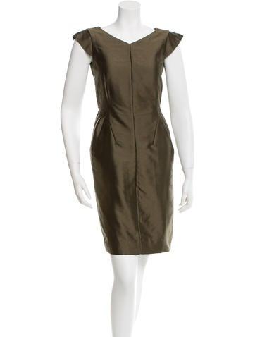 Valentino Cap Sleeve Sheath Dress None