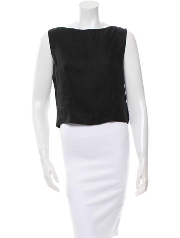 Valentino Sleeveless Crop Top None