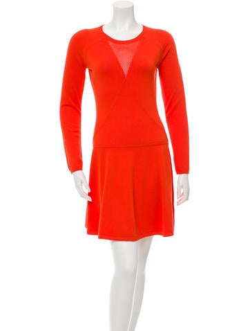 Valentino Knit Long Sleeve Dress None