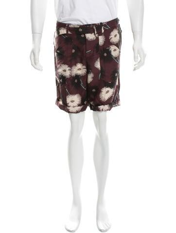 Valentino Silk Printed Shorts