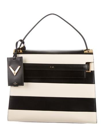 Valentino My Rockstud Striped Satchel