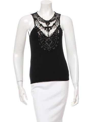 Valentino Sequined Sleeveless Top w/ Tags None