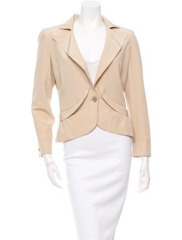 Valentino Long Sleeve Silk Jacket None