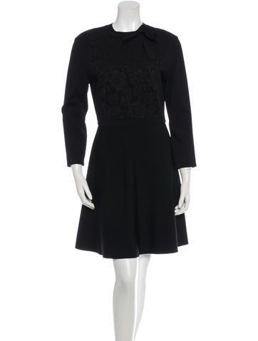 Valentino Long Sleeve A-Line Dress None