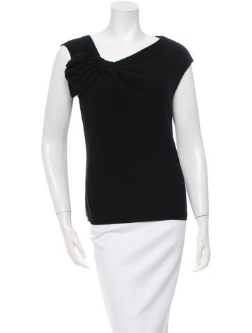 Valentino Bow-Accented Knitted Top None