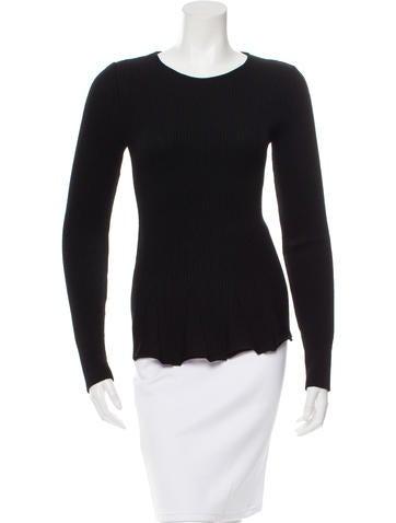 Valentino Wool Rib Knit Sweater None