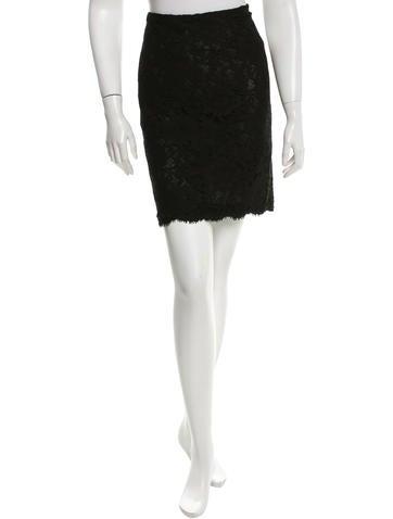 Valentino Lace Mini Skirt None