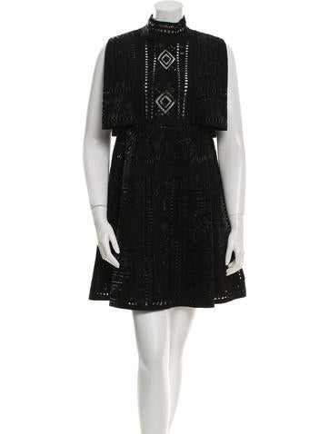 Valentino Wool Embellished Dress w/ Tags None