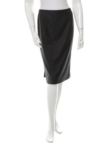 Valentino Wool & Cashmere-Blend Skirt None