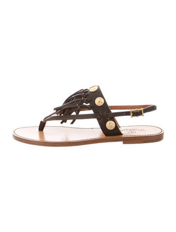 Valentino Leather Studded Sandals None