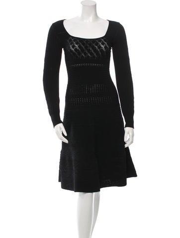 Valentino Square Neck Knit Dress w/ Tags None