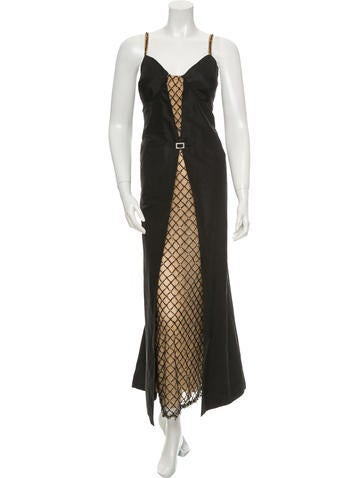 Valentino Beaded Silk Gown None