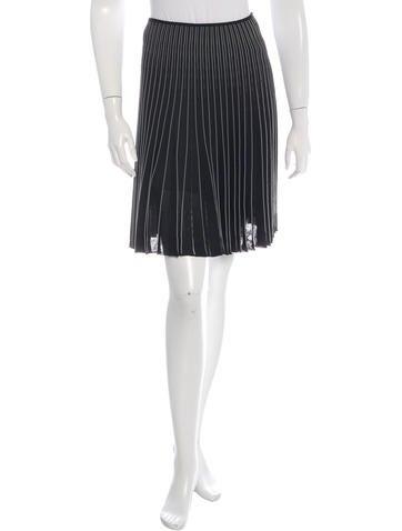 Valentino Striped Knit Skirt None