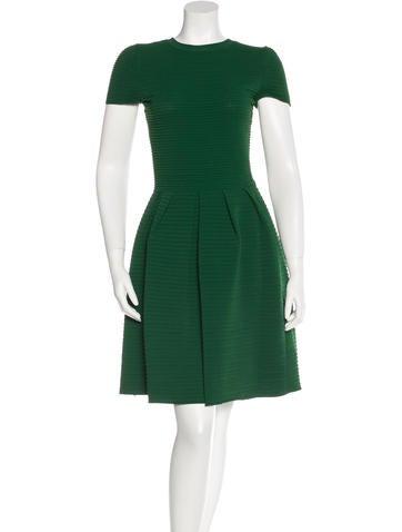 Valentino Textured A-Line Dress None