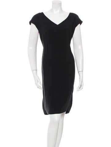Valentino V-Neck A-Line Dress None