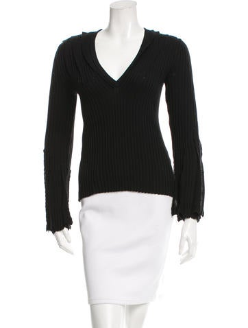 Valentino Wool Long Sleeve Top None
