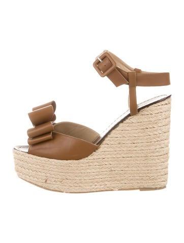 Valentino Espadrille Wedge Sandals None