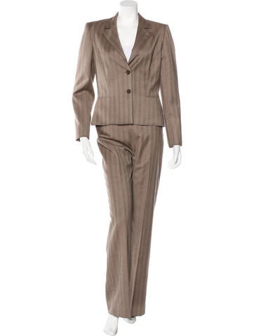 Valentino Wool Cashmere-Blend Pantsuit None