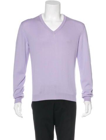 Valentino Logo V-Neck Sweater w/ Tags None