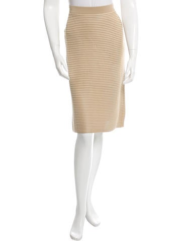 Valentino Pleated Bodycon Skirt w/ Tags None