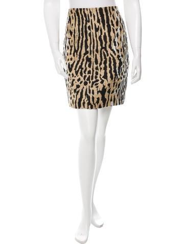 Valentino Patterned Mini Skirt None