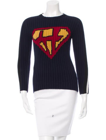 Valentino Super-H Intarsia Virgin Wool Sweater None
