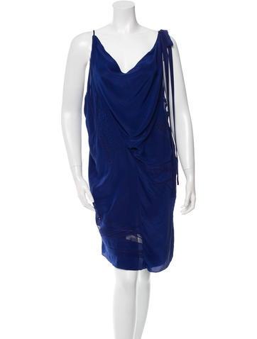 Vanessa Bruno Sleeveless Silk Dress None